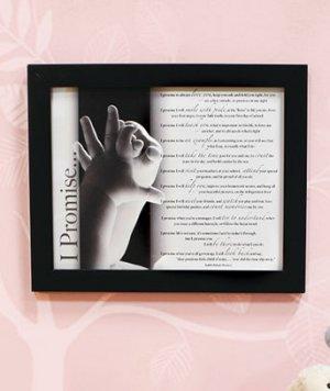 """""""I Promise"""" Framed Poem"""