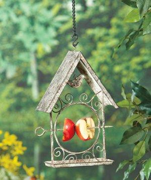 Metal Hanging Fruit Bird Feeder