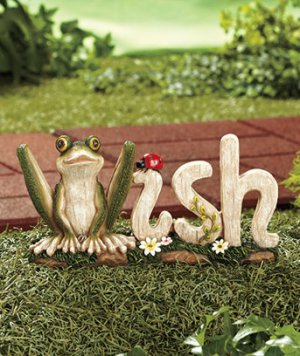 "Cute Garden Animal Word ""Wish"" Design"