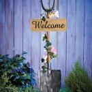 Solar Garden Ivy Design Shovel Welcome Stake