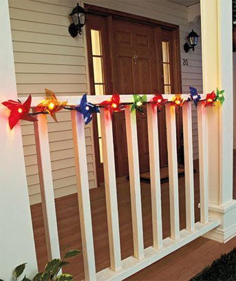 Novelty Pinwheels String Lights Great for Camper Awning RV Patio or Deck!