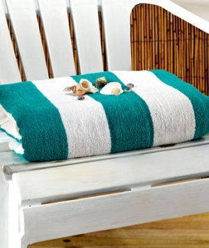 "Jade 50"" x 70"" Cabana Towel for Two"