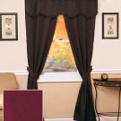 5-Pc. Blackout Curtain Set (Burgundy)