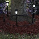 New Outdoor Solar Metal Tree Ring Border Fence w/ Scrolls