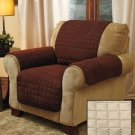 New Stone Chair Cover Quilted Sueded Furniture Cover