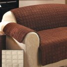 New Stone Loveseat Cover Quilted Sueded Furniture Covers
