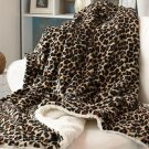 New Cheetah Plush Animal Print Sherpa Throws