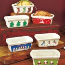 Set of 6 Mini Holiday Loaf Pans