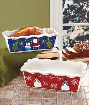 Set of 2 Large Holiday Loaf Pans