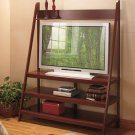 New Wooden Walnut Ladder TV Stand