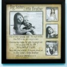 Big Sister / Little Bro Sibling Collage Frame