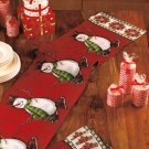 New Holiday Christmas Snowman Tapestry Runner