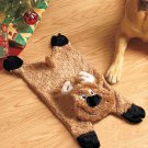 New Reindeer Seasonal Stuffing-Free Dog Toy