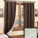 "Sage 84"" Panels Sets of 2 Insulated Sueded Polyester Curtains"
