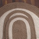 "Taupe 47"" x 71"" Area Rug , Braided Rug Collection"