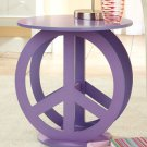 New Wooden Purple Peace Sign Table