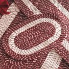"Burgundy 20"" x 30"" Accent Rug, Braided Rug Collection"