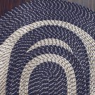 "Blue 20"" x 30"" Accent Rug, Braided Rug Collection"