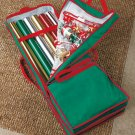 New Red Christmas Holiday Giftwrap Storage Organizer Container