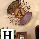 "New Metal Monogramed Wall Hanging "" H ""  Measures 20"" dia. x 2"" overall"