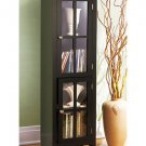 New Black Espresso Furniture Collection 2-Door Cabinet