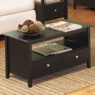 New Black Espresso Furniture Collection Coffee Table