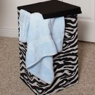 New Animal Print Zebra Clothes Hamper Organizer