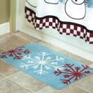 New Red and White Snow Flakes Party Bathroom Bath Rug