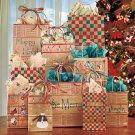 New 45-Pc. Holiday Christmas Kraft Gift Bag Set