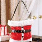"New Santa Red Polyester 10"" Strap Drop Chirstmas Holiday Handbag"