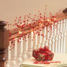 "New Red 54"" Battery Operated Lighted Crystal Garland"
