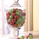New 40-Pc. Decorative Ball Set Holiday Christmas Red and Green  Swirl Home Accent