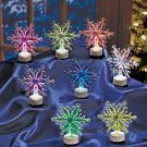 New Set of 8 Plastic Color-Changing Battery Operated Snowflakes
