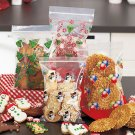 New Set of 48 Holiday Christmas Zip Lock Treat Bags