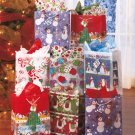 New Set of 8 Christmas Vellum Gift Bag Set