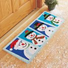 "New 14"" x 34"" Snowman Windows Christmas Holiday Coir Doormat Runner"