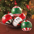 New Set of 6 Decorative Holiday Christmas Balls