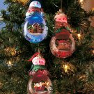 New Lighted Color Changing Waterglobe Set of 3 Snowmen Decorative Ornaments
