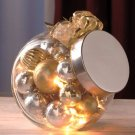 New Lighted Glass Gold / Silver Ornament Jar