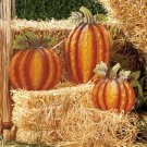 New 3-Pc. Pumpkin Holiday Harvest Garden Decor Stake Set