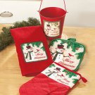 New 4-Pc. Holiday Christmas Gift Pail Set
