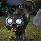 New Halloween Solar Garden Cat Statue