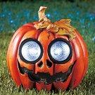 New Halloween Solar Garden Pumpkin Statue
