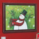 New Lighted String Of Lights Snowman Holiday Decor Wall Art
