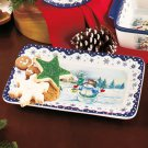 Snowman Platter Holiday Serveware