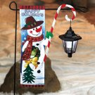 New Snowman Christmas Flag With Solar Lantern