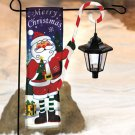 Santa Christmas Flag With Solar Lantern