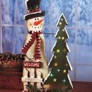 New Color-Changing Snowman With Tree Christmas Decor Battery operated