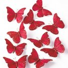 New Set of 10 Red Butterfly Clip Ornaments