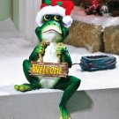 New Cold cast ceramic Solar Lighted Seasonal Frog